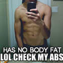 abs on skinny guys